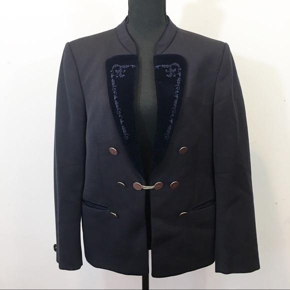 2063a78a9 Vintage Alpen Tracht | Austrian Navy Wool Jacket
